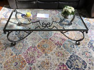 Glass coffee and end table for Sale in Alexandria, VA