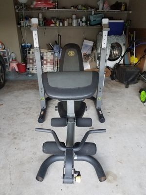 Gold's Gym Olympic Weight Bench with Squat Rack for Sale in Alpharetta, GA