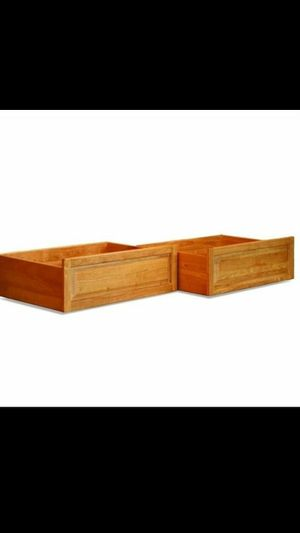 Atlantic BunkBed Drawers set of 2 Solid Wood..Color: Caramel Latte. -Used.Great Condition- for Sale in Renton, WA