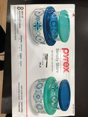 Pyrex 8 piece set of decorated glass storage for only 9.99 at The House Depot !🏡 for Sale in Pasadena, CA