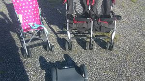 Toddler's bundle two strollers one single one double Clean safe also booster chair ready to use delivery possible for Sale in Philadelphia, PA