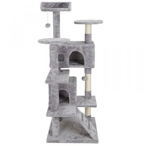 53 Cat Tree Activity Tower Pet Kitty Furniture with Sisal-Covered Scratch Post for Sale in Wildomar, CA
