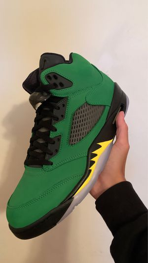 Jordan 5 Oregon/Green Apple 2020 Size 10.5 for Sale in Miami, FL