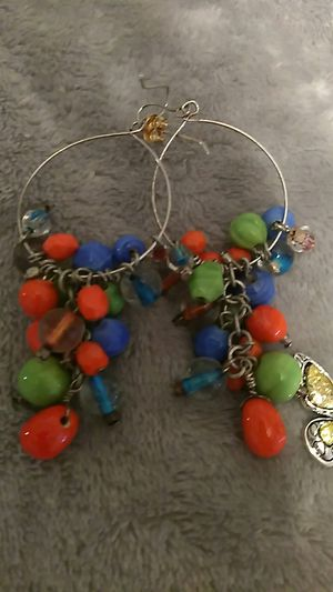 Butterfly necklace with flower bracelet and dangle earrings for Sale in Rocky Mount, VA