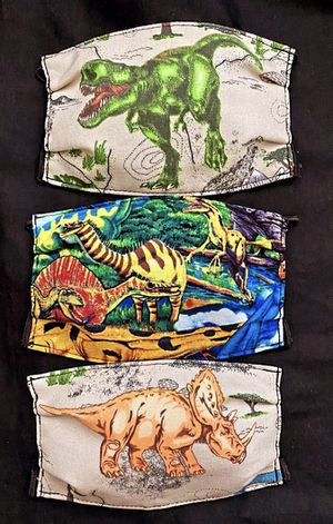 Child Face Mask Dinosaur Set of 3 for Sale in Phoenix, AZ