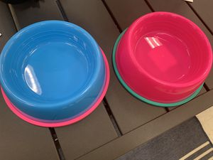 Dog Feeding Bowl • Pink and Blue • Sun Squad for Sale in Clayton, NC