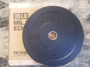 Rogue Fitness, 2 x 35 lbs, Mil Spec Echo bumper plates! for Sale in San Fernando, CA