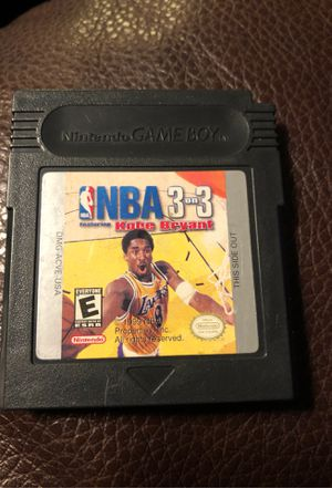 Nintendo Game Boy NBA 3 on 3 Kobe Bryant for Sale in Stockton, CA