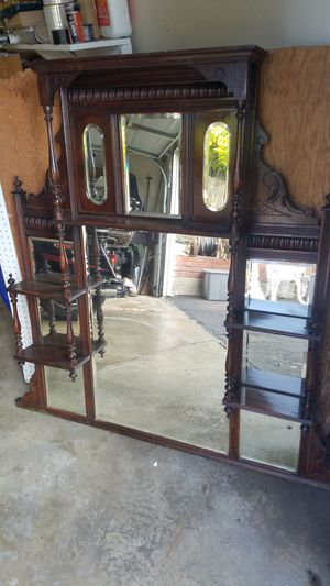 Exceptional Victorian beveled mirror mantelpiece for Sale in Castro Valley, CA