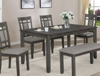 New In Stock Gray Color 6-piece Dining Table Set for Sale in College Park,  MD