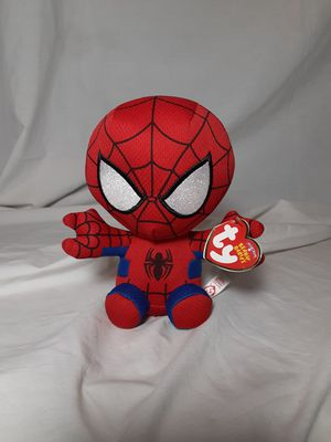 """TY Beanie Baby 6"""" SPIDER-MAN Spiderman (Marvel) Plush Stuffed Animal Toy MWMTs for Sale in East Point, GA"""