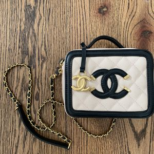C Bag Mini Filigree Crossbody Bag Black And Cream for Sale in Atlanta, GA