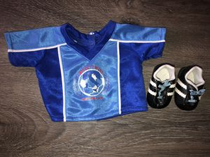 American girl doll Bitty babies soccer outfit for Sale in Mission Viejo, CA
