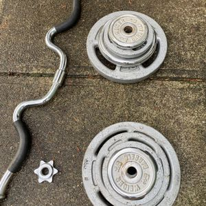EZ Curl Bar With Weights for Sale in Snohomish, WA