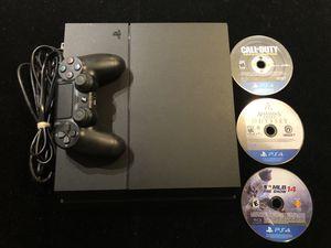 Sony Original PlayStation 4 PS4 500GB CUH-1215A Black Console+Controller+3 Games(Post Nintendo Era) for Sale in Atlanta, GA