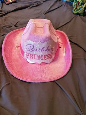 Little girl's birthday princess cowgirl hat for Sale in Plantation, FL