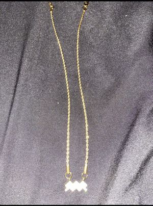 18kp Aquarius chain and charm for Sale in Ontario, CA