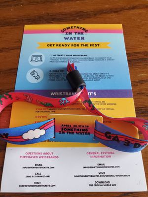 Something in the water festival 3-Day GA wristband for Sale in Lorton, VA