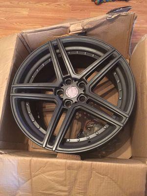 Matte black 5 spoke rims for Sale in Highlands, NJ