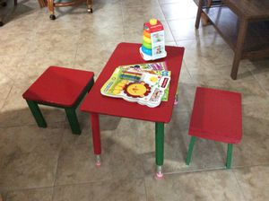 Child's wooden table and 2 stools for Sale in Largo, FL