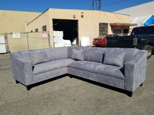 NEW 7X9FT GIBSON GRAFITE FABRIC SECTIONAL COUCHES for Sale in Las Vegas, NV