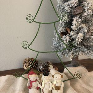 Vintage Hallmark Christmas Tree & Snowmen Christmas Card Holder for Sale in Largo, FL