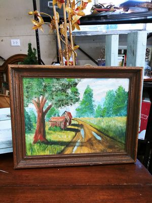 Vintage Farmhouse Vibe Painted Canvas! 18 x 14 for Sale in Joliet, IL