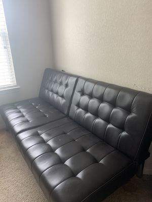 Leather Futon for Sale in Richmond, TX