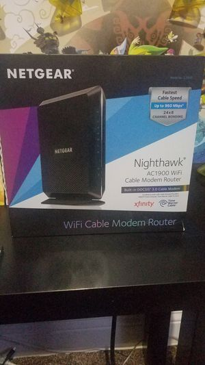AC1900 WiFi Cable Modem Router Model C7000 nighthawk for Sale in Moreno Valley, CA