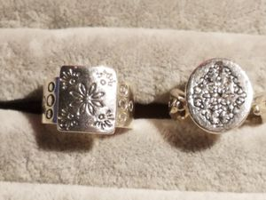 Etched sterling rings for Sale in Millersville, MD