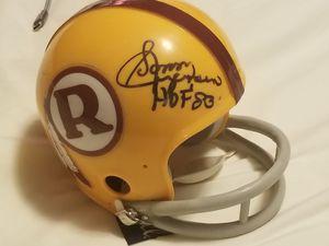 Sonny Jurgensen Signed Washington Redskins Mini Helmet- HOF #83- certified GA for Sale in Chevy Chase, MD