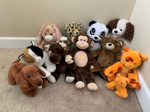 Lot of 10 Build a Bear stuffed animals for Sale in Bonney Lake, WA