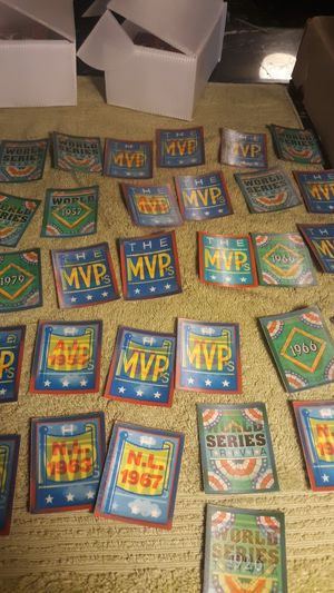 Lot of 54 mini score baseball hologram cards hologram front World Series trivia question cards for Sale in Berwyn, IL
