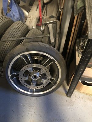 Harley Davidson street glide wheel with rotors for Sale in Garland, TX