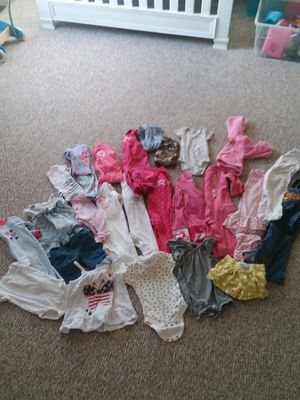 over 25 pieces of girls clothes ranging from 3-6 month - 12 month for Sale in Fountain, CO