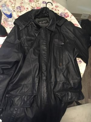 Wilson's leather jacket with hoodie for Sale in Lynnwood, WA