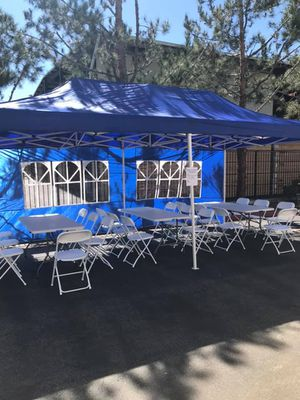 """🌧☀️ Weather Resistant 10 x 20""""ft Adjustable Pop Up Tent ☀️🌧 Available in 3 Colors for Sale in Chino, CA"""