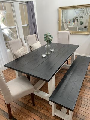 Farmhouse table and bench for Sale in Irvine, CA