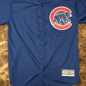 Kris Bryant #17 Chicago Cubs MLB Baseball Jersey Youth Size L Stitched for Sale in East Dundee, IL