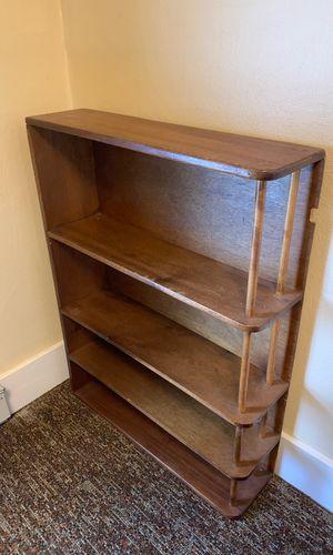 Mid century modern bookshelf wood shelves for Sale in Portland, OR