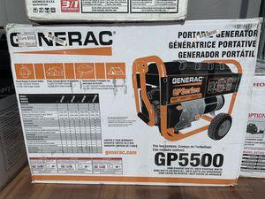 New Generac 5500watt Generator. GP5500 Model #5939 for Sale in Waltham, MA