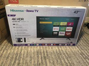 "43"" Hisense 4K UHD HDR Roku Smart TVs for Sale in Brooklyn, NY"