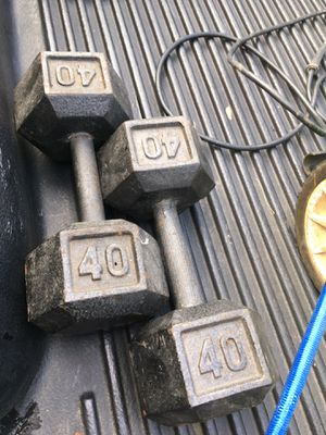 40 lb dumbbells for Sale in Columbus, OH