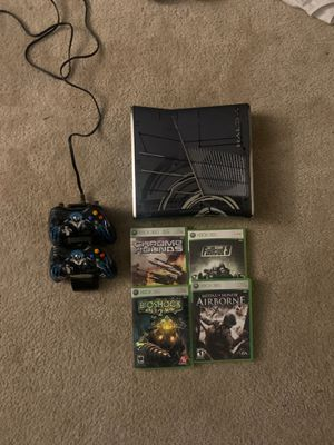 Xbox 360 W/ 2 Controllers & 4 Games for Sale in Victorville, CA