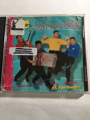 WIGGLES DANCE PARTY 25 SONGS ON CD for Sale in New Castle, DE