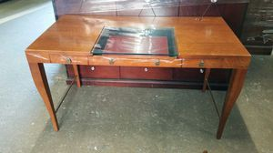 Glass and Wood Designer Desk for Sale in Baltimore, MD