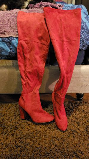 Red thigh high boots. for Sale in Austin, TX