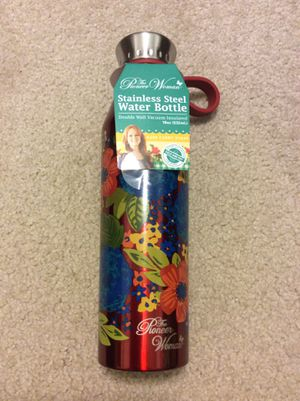 The Pioneer Woman® 18 Oz Double Wall Vacuum Insulated Red Stainless Steel Water Bottle for Sale in Fort Meade, FL
