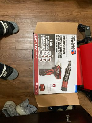 Cordless impact wrench and ratchet kit Matco for Sale in Houston, TX