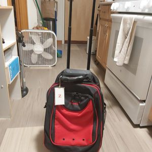 Red & Black Backpack/Rolling Pack On Wheels for Sale in Seattle, WA